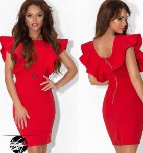 Новое красное платье