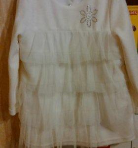 Платье белое 86-92