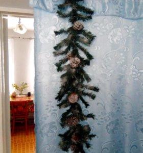 Новогодняя герлянда ручной работы длина 1 метр