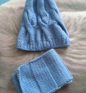 Шапка женская + шарфик
