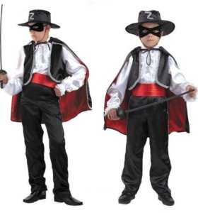 Карнавальные костюм Зорро