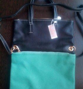 Новая сумка/клатч 2в1+брелок