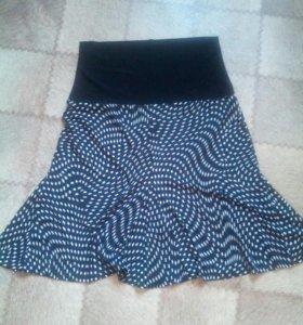 Юбка вискоза и блуза+бусы в подарок