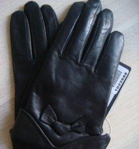 Кожаные перчатки ( новые )
