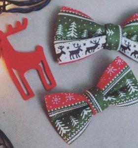 Комплект новогодних шалстук-бабочек