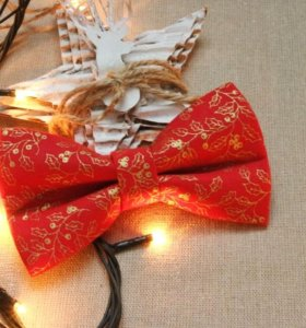 Новогодняя галстук-бабочка