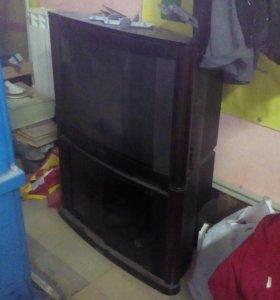Телевизор с тумбой сгорел транзистор
