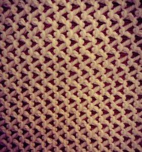 Плед (покрывало) вязаное