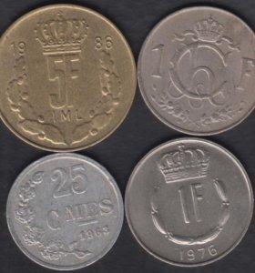 Люксембург 4 монеты