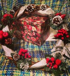Рождественский венок- под заказ