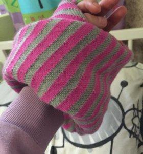 Новый шарф-снуд детский