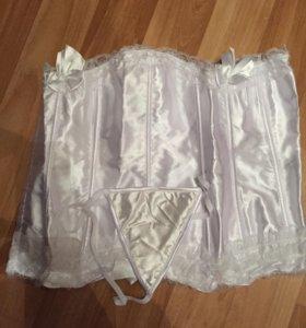 Корсет белый с 54 до 60 размера