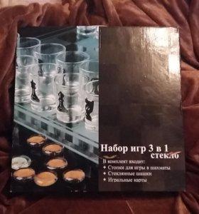 Стеклянный набор для игр