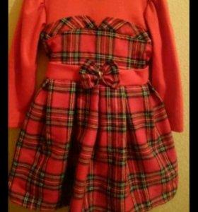 Платье теплое-100-104см