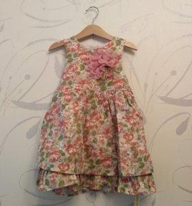Новое детское платье, р-р 2-3 года