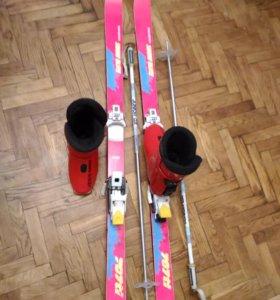 Горные лыжи детские комплект