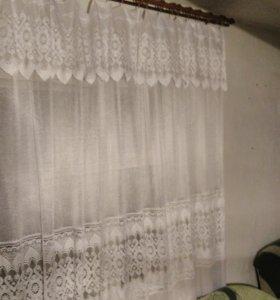 Тюль на большое окно