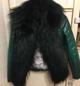 Куртка кожаная утеплённая (зима!)