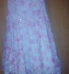 Платье для девочки с накидкой