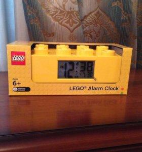 Часы-будильник Лего lego кирпичик (желтый)