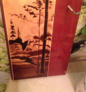 Картина из натурального дерева