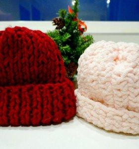 Тёплые шапки объемные