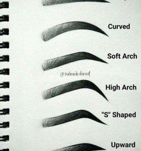 Художественное оформление бровей