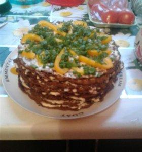 Печеночный тортик