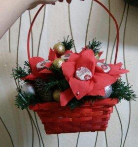 Новогодняя корзиночка
