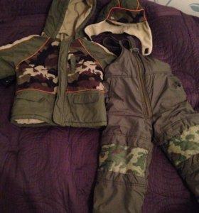 Зимняя куртка штаны и шапка детские