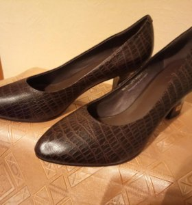 Туфли, из натуральной кожи