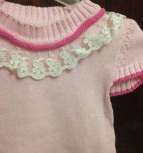 Платье вязаное на 2 года