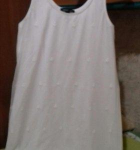 Платье Манго с вышевкой