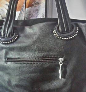 Кожаная-замшевая сумочка