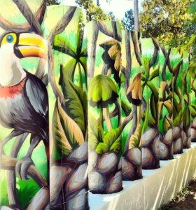 Граффити оформление и роспись стен