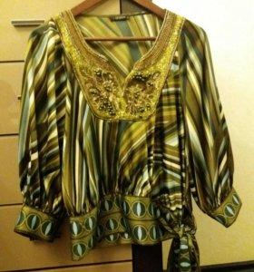 Шелковая блуза Gizia с вышивкой ручной работы