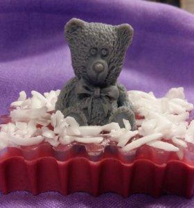 Мыло. Мишка в малиновом сиропе.