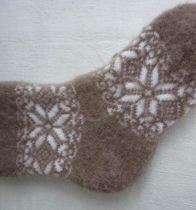 Носки шерстяные с узором 36-39.