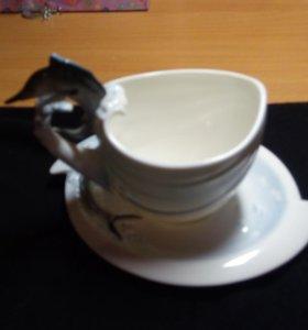 Чашка с блюдцем Рыбки