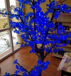 Дерево светодиодное синее