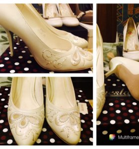 Туфли свадебные 38,5 размер