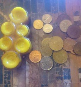 Советская монетница + немного монет