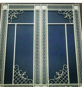 Кованые двери и ворота