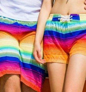 Парные пляжные шорты