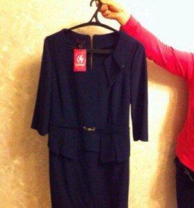 Новое темно синее платье