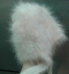 шапка кроличий пух