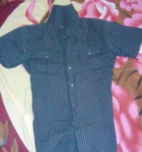 Рубашка(полуракав) и рубашка фирмы BOSS