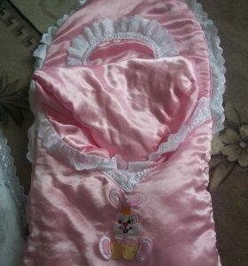 одеяло для новорожденного на выписку