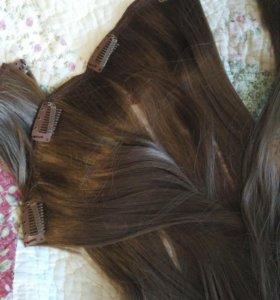 Волосы накладные на заколках