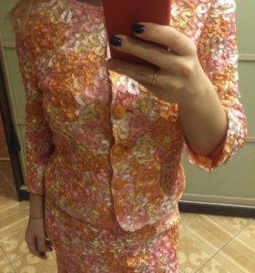 Костюм (платье и пиджак)
